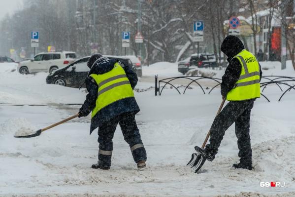 Из-за снегопада возможны заторы на дорогах
