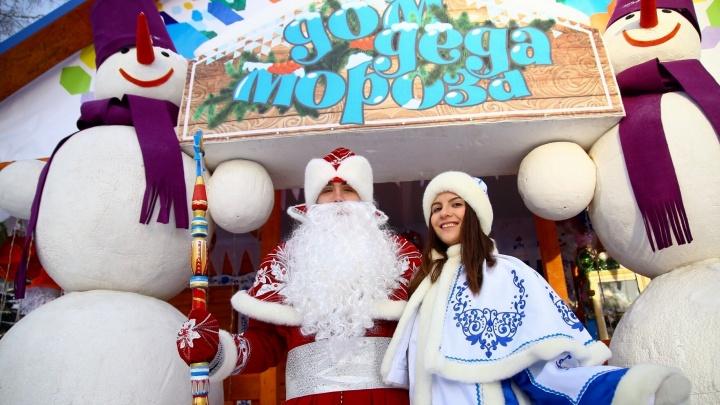 В парке Маяковского открылась усадьба Деда Мороза, где можно загадать желание