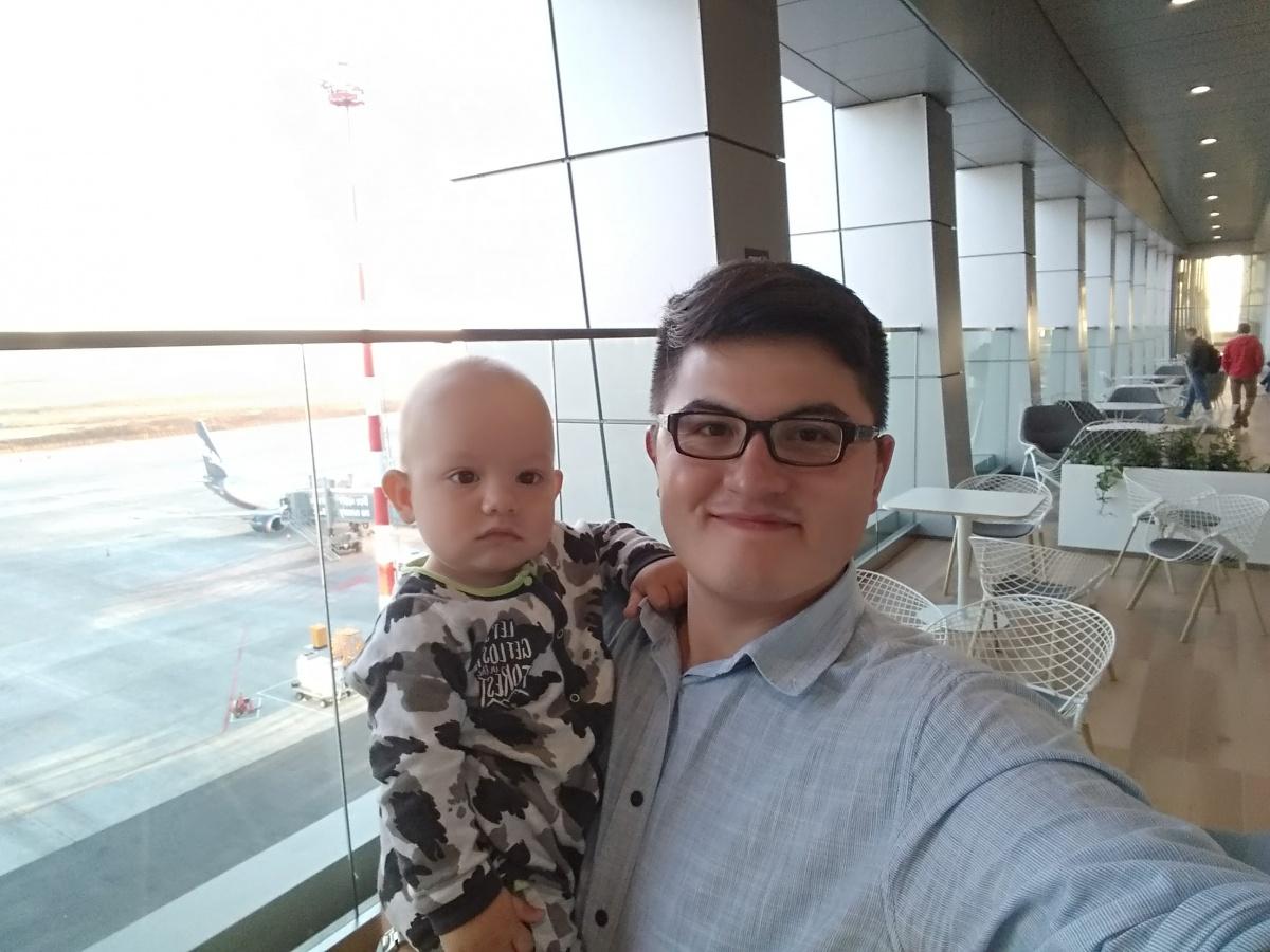 В Екатеринбург они вернулись уже с маленьким сыном