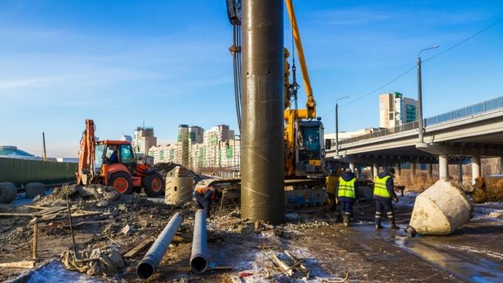 Работу над третьим уровнем развязки в центре Челябинска закончат до конца года