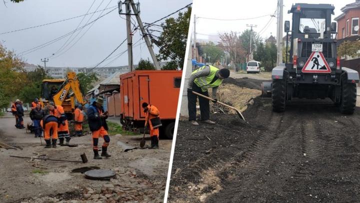 Самую «убитую» улицу страны в Ростове начали ремонтировать