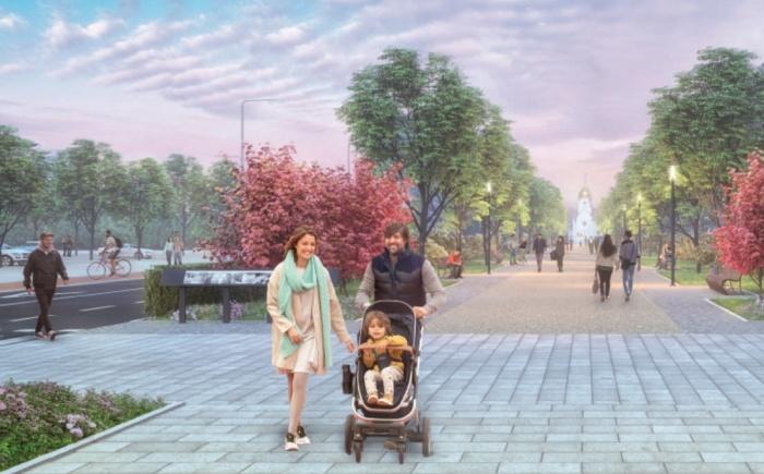 Город-сад: Красный проспект станет раем для пешеходов (эскиз)