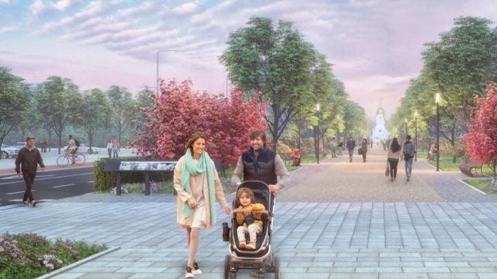 Город-сад: Красный проспект станет раем для пешеходов