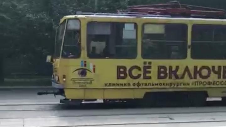 Взбесившийся трамвай: вагон, который попал в ДТП на Ленина, несся по улице без водителя