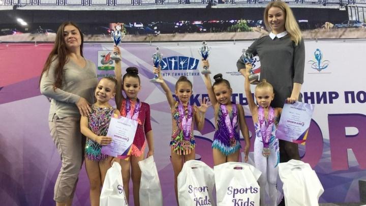 Маленькие екатеринбургские гимнастки завоевали четыре медали на турнире в Казани