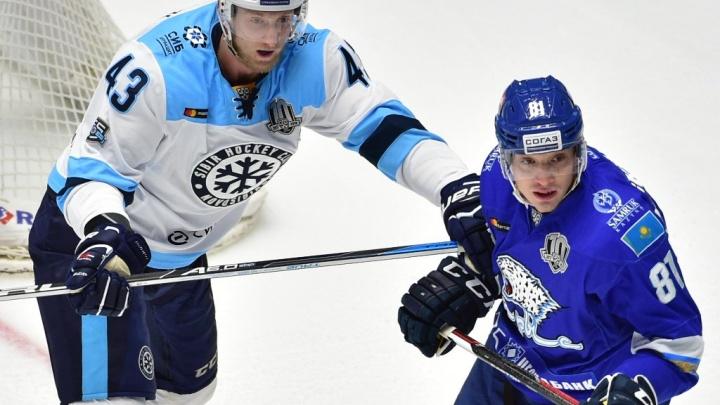 Хоккей: «Сибирь» одержала победу над «Барысом»