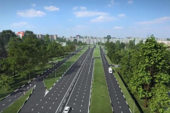 Так будет выглядеть новая дорога от 4-го моста к Копылова