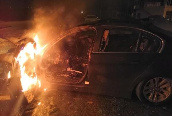 В Башкирии попал в ДТП и сгорел BMW, погибла 38-летняя женщина