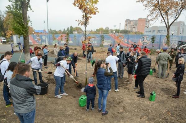 В Ростове прошел День древонасаждения