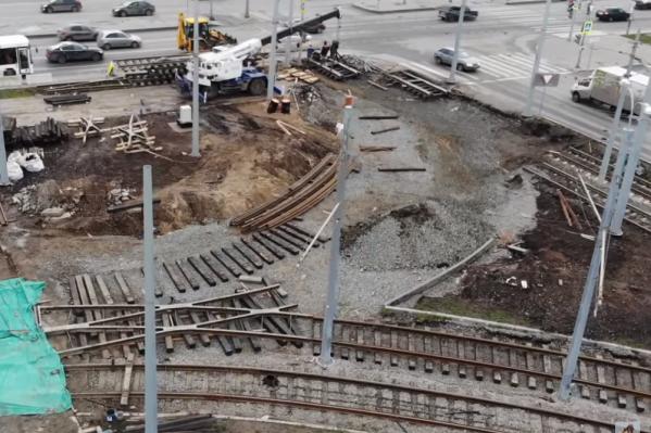 Поворачивать на стадион трамваи будут, переехав Московское шоссе