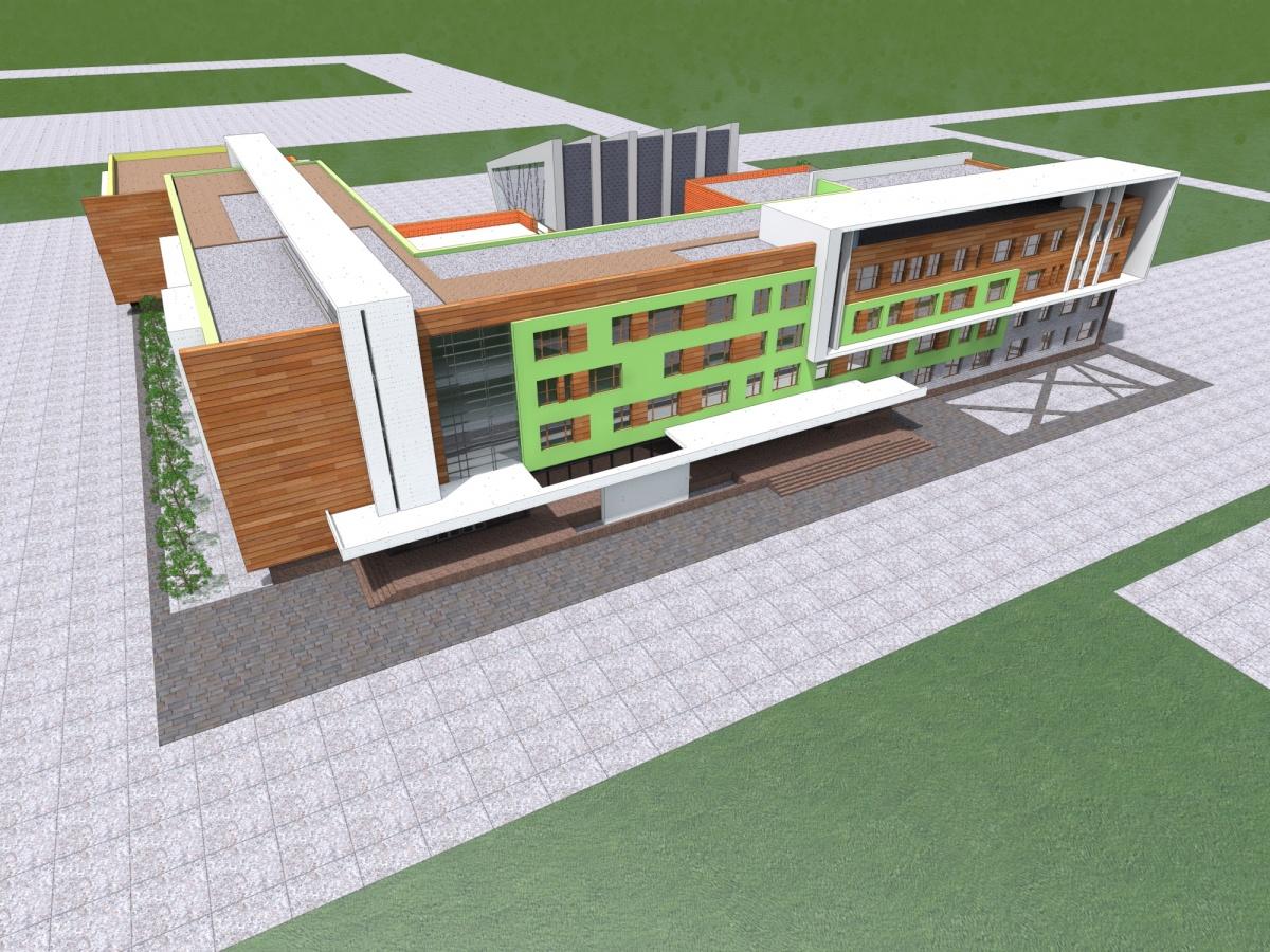 Центр объединит школу, садик, бассейн и медицинский блок