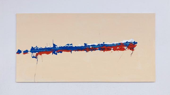 Артём Лоскутов нарисовал триколор полицейской дубинкой и продал картину за 55,5 тысяч