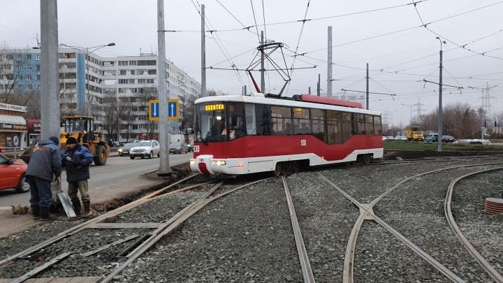 Первый пошел: к стадиону «Самара Арена» со стороны Безымянки пустили трамваи