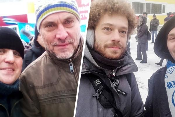 С московскими гостями участники митинга делали селфи