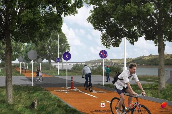 Проект велосипедизации Нижнего Новгорода предусматривает открытие велодвижения по набережным<br>