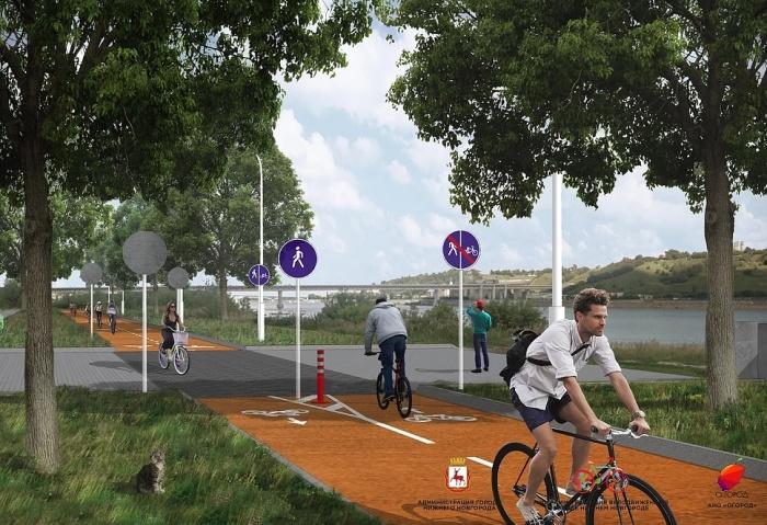 Проект велосипедизации Нижнего Новгорода предусматривает открытие велодвижения по набережным
