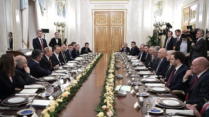 Владимир Путин встретился в Кремле с руководителями российских СМИ