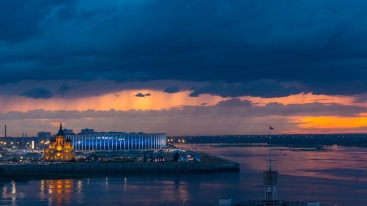 Фото дня. Нижний Новгород в предвкушении грозы