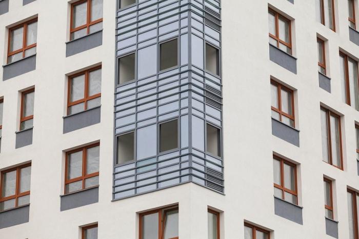 Фасад первого дома в квартале «Дунаевский». Дом сдаётся в конце этого года