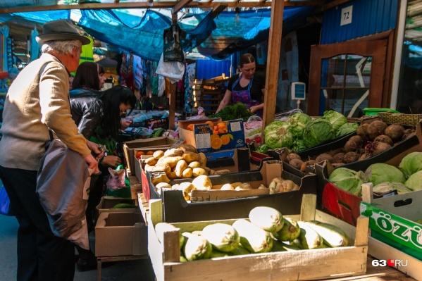 На ярмарке будут продавать овощи и фрукты