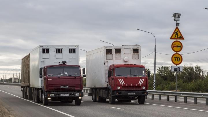 В Волгоградской области до конца дня убрали с трасс всех дальнобойщиков