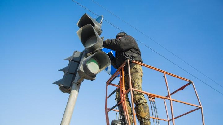 На Немировича-Данченко погасли светофоры: собирается пробка