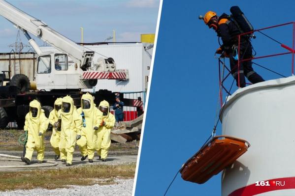 В учениях участвовали все спасательные службы города
