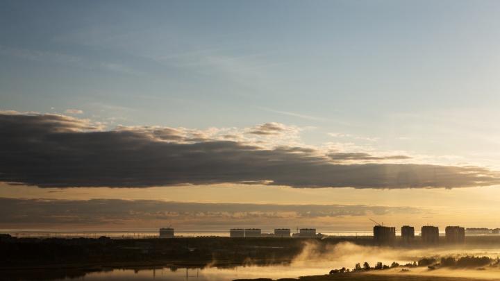 15 кадров туманной Тюмени: смотрим, что вы пропустили этим утром