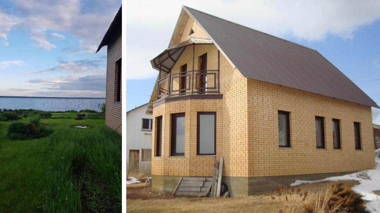Из окон этого дома в Антоново открывается вид на реку или снежную равнину