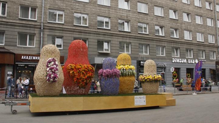 Цветочным скульптурам с улицы Ленина найдут место на Михайловской набережной