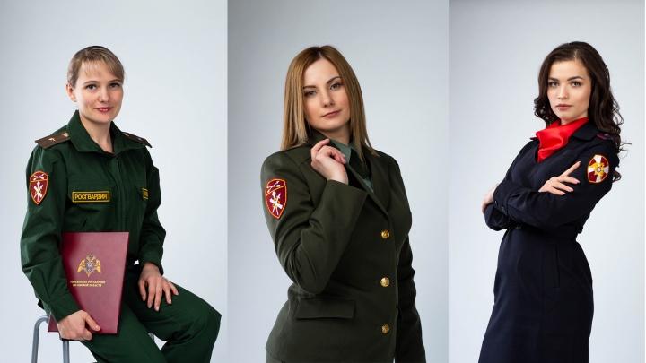Три омички борются за звание самой красивой девушки Росгвардии РФ
