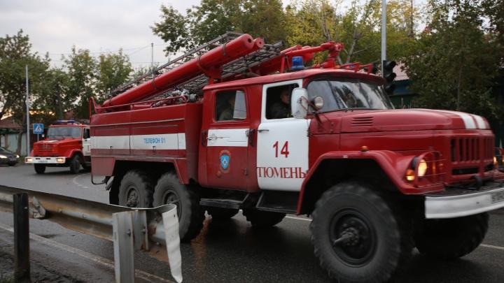 В тюменском селе в машине заживо сгорел мужчина