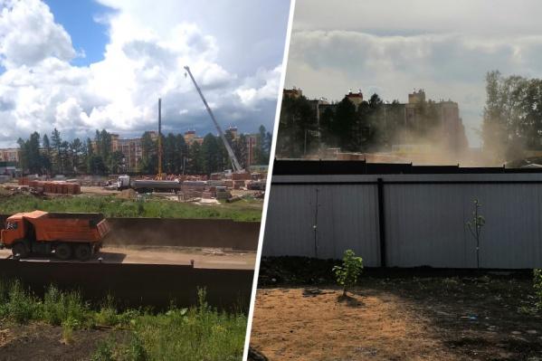 Из-за пыли местные жители перестали проветривать свои квартиры