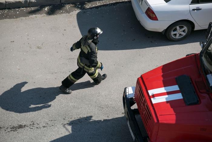 Пожар случился на по адресу Виктора Уса, 9