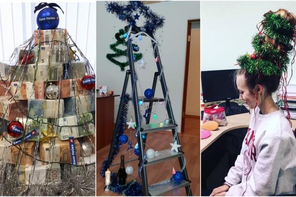 Эти новогодние деревья явно делали люди с фантазией