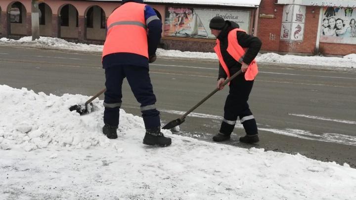 С улиц Кургана за новогодние праздники вывезли более 15,5 тысяч тонн снега