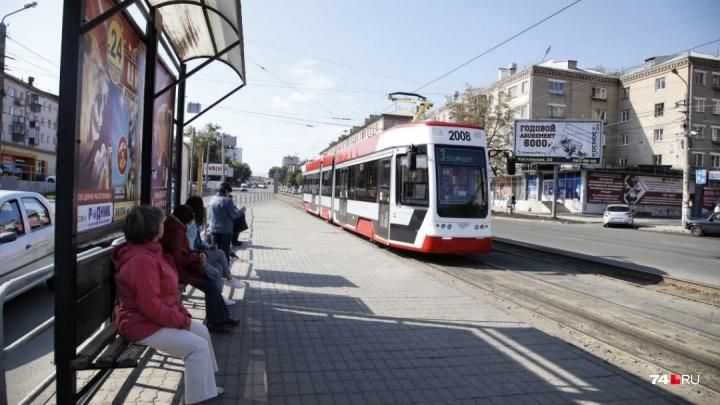 Новый трамвай с «гармошкой» сломался в первый день работы в Челябинске