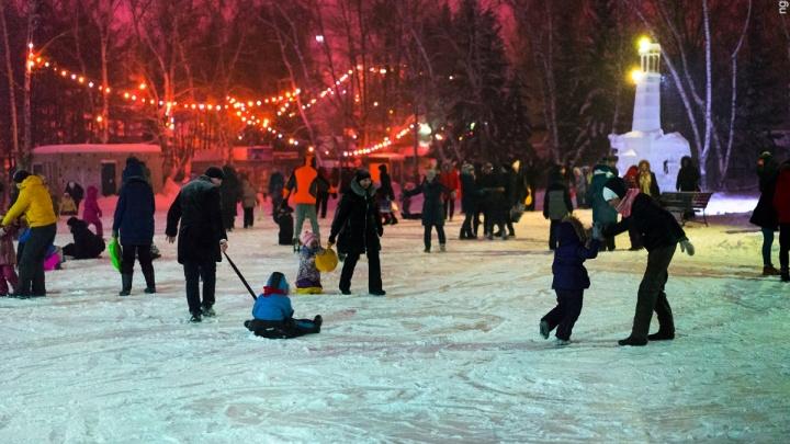 Привет, зима: выясняем, где в Омске можно покататься на коньках и лыжах