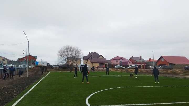 В поселке Рубежном пустырь превратили в пространство для спорта и отдыха