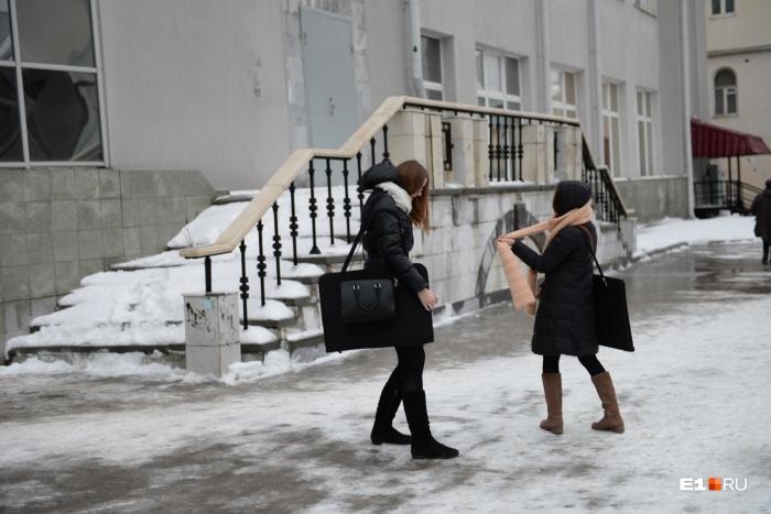 Из-за дождя и минусовых температур ночью, на улицах появится лед
