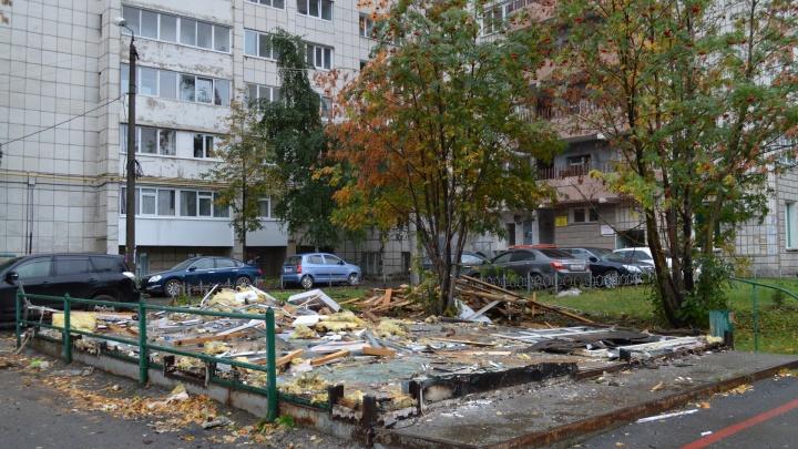 В Перми на улице Луначарского снесли магазин морепродуктов «Дария»