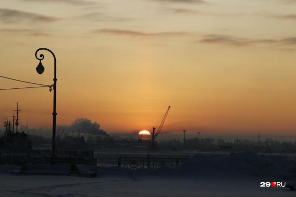 Вид с Красной пристани живописен