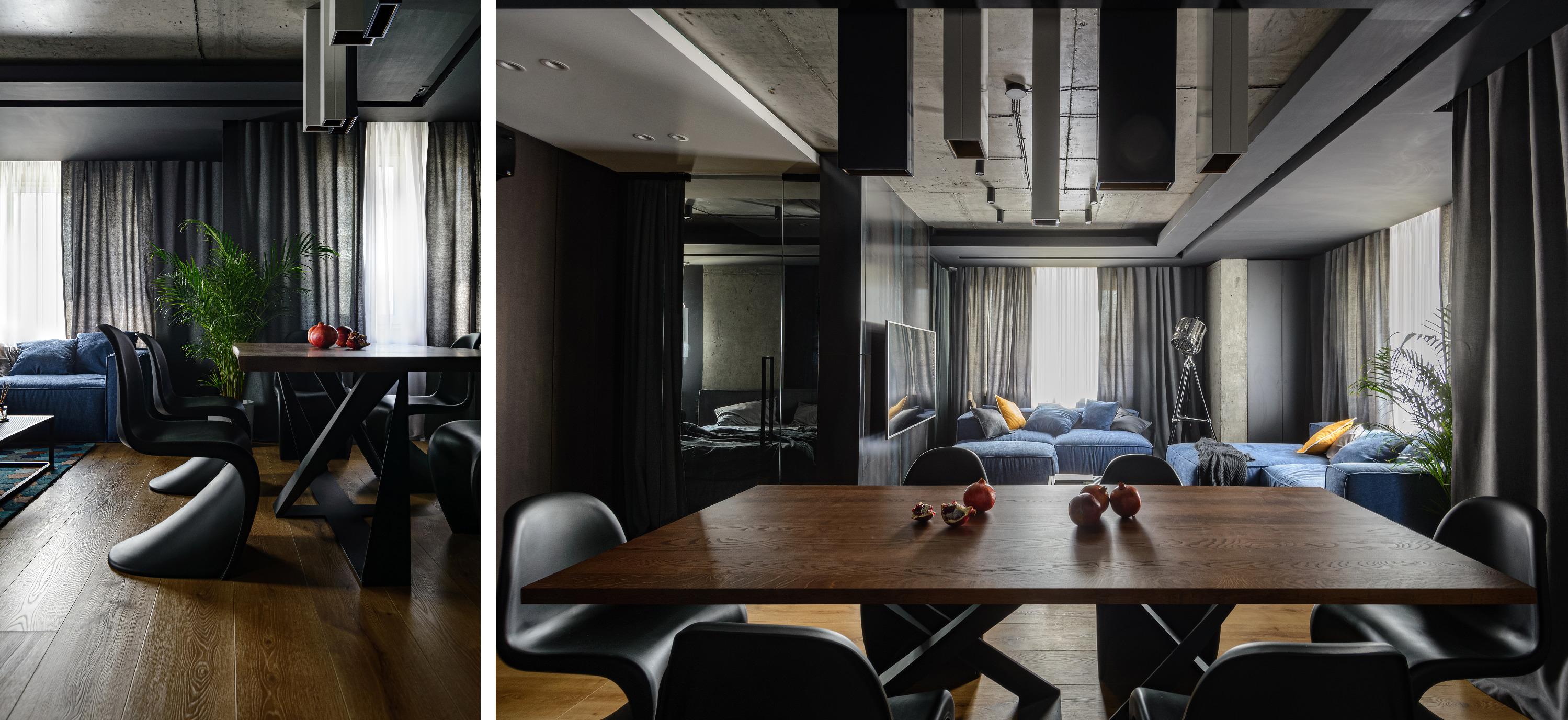 Почти всю мебель для квартиры сделали на заказ по эскизам и чертежам дизайнеров