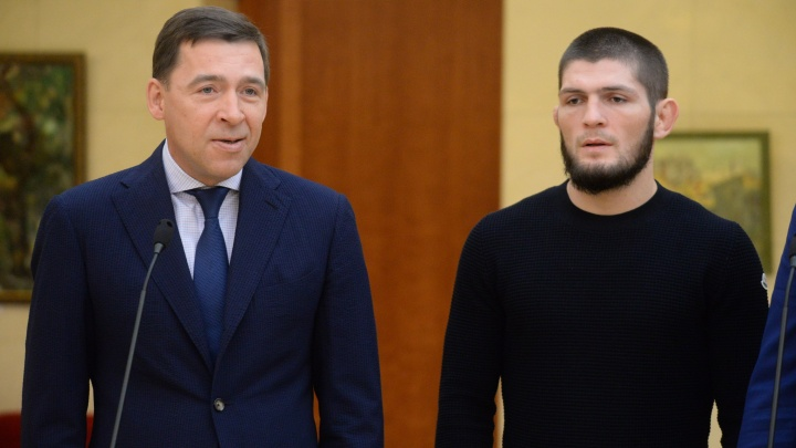Хабиб прилетел к Куйвашеву поговорить о боксе: теперь в регионе построят клуб в честь спортсмена