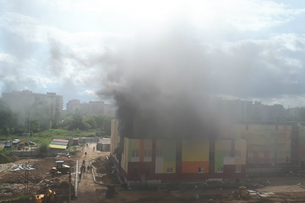 Пожар в строящемся детском саду случился уже не первый раз