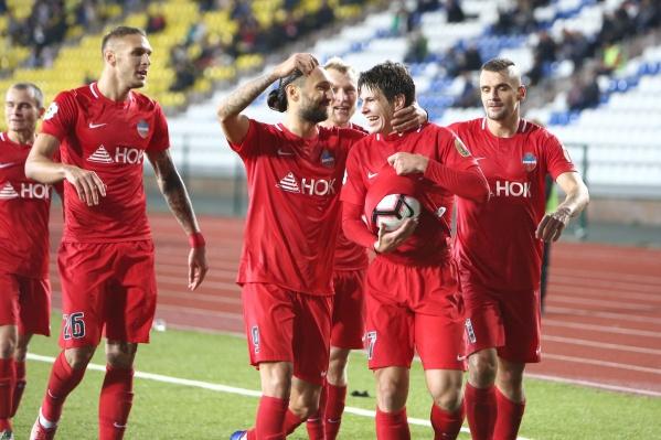 Первый победный матч красноярцев в Премьер-лиге
