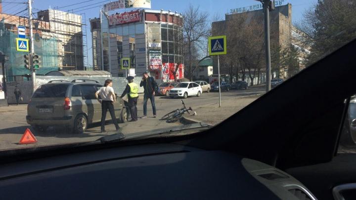 В Уфе сбили велосипедиста на пешеходном переходе