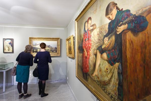 Мастер-класс пройдет в окружении картин в выставочном зале