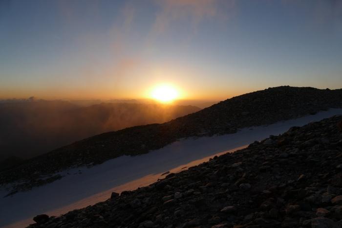 На горе Хабасюэшань высотой 5396 метров