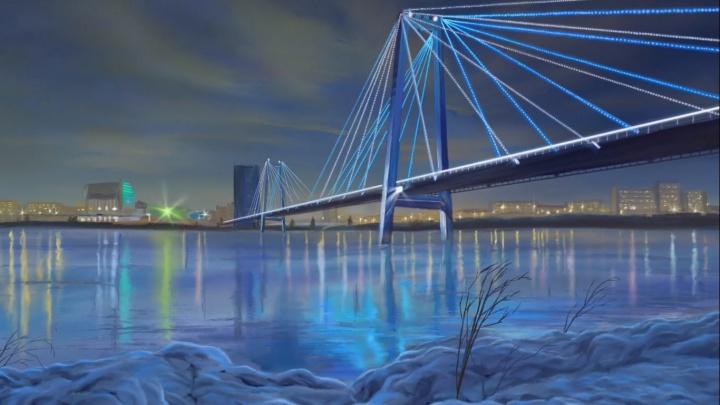Художник за 12 часов нарисовал фотореалистичное изображение Виноградовского моста